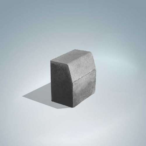 Barabás kiemelt szegély 25x25x15 cm szürke