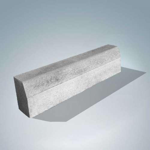 Barabás kiemelt szegély 100x25x15 cm szürke